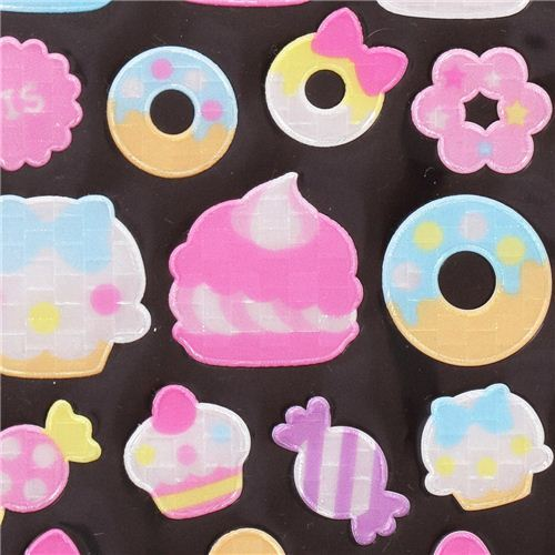 donut macaron sweets reflective stickers by Crux