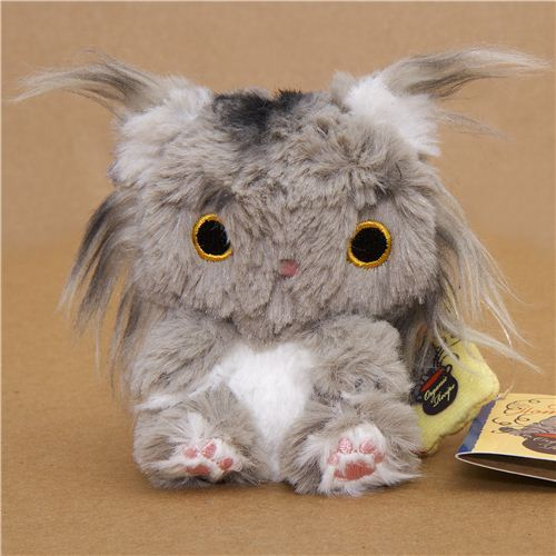 Kutusita Nyanko plush charm grey cat San-X