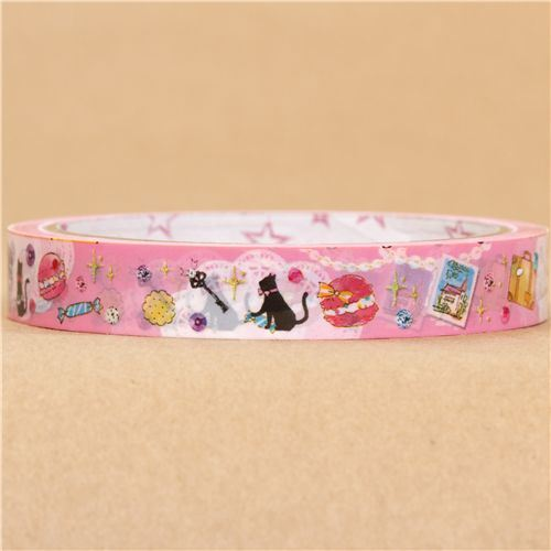 cute pink France Deco Tape macaroon cat jewelry