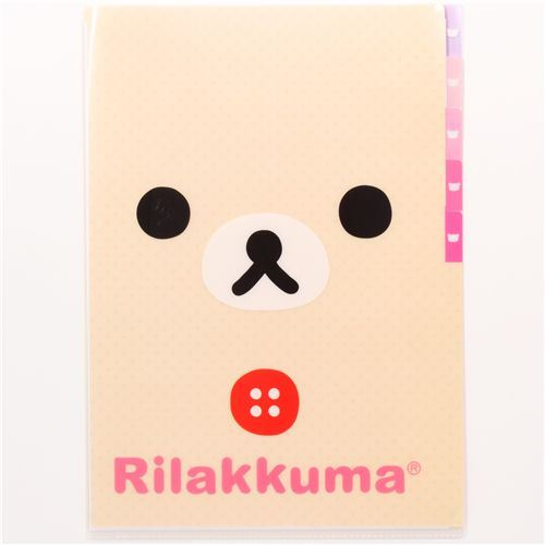 5-pocket A4 plastic file folder white Korilakkuma bear