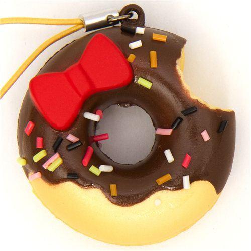Hello Kitty chocolate donut squishy charm