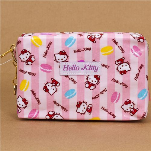 pale pink Hello Kitty make-up pouch from Japan macaroons