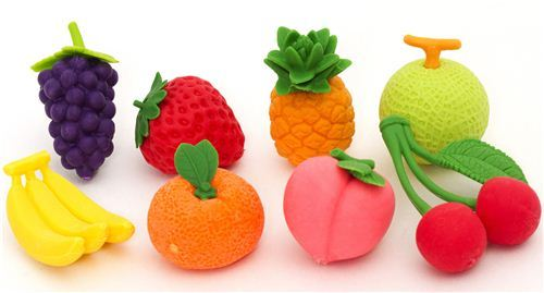 Iwako erasers fruit set 8 pieces from Japan