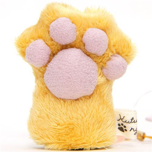 Kutusita Nyanko plush charm brown cat paw