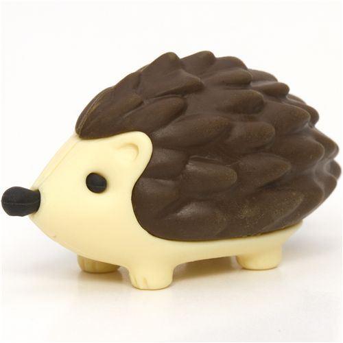 brown hedgehog eraser by Iwako from Japan