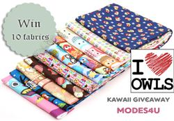 My Owl Barn Christmas giveaway with modes4u owl fabrics, ends September 12th, 2014
