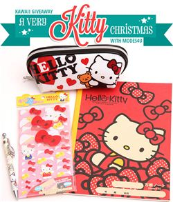 Kawaii Gazette giveaway with modes4u Hello Kitty stationery, ends December 6th, 2014