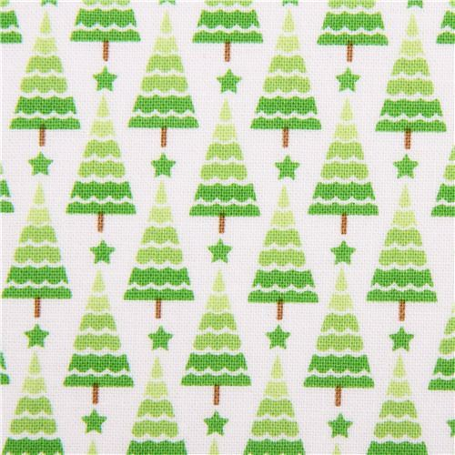 white Riley Blake tree Xmas fabric Home for the Holidays