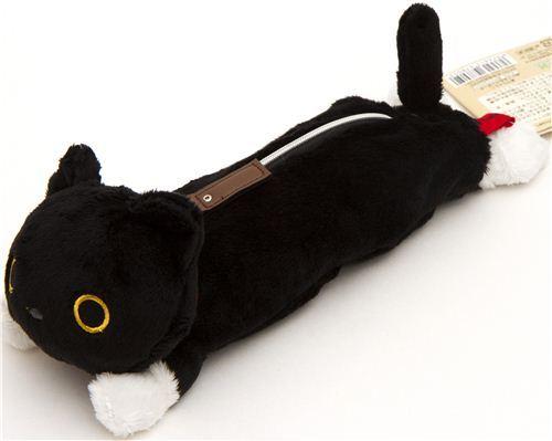 fluffy Kutusita Nyanko pencil case with cat