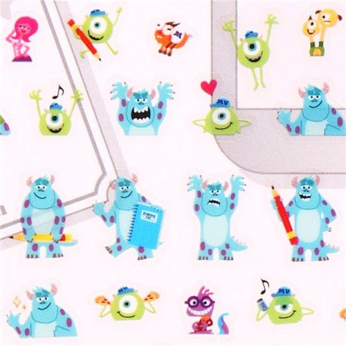 Disney Pixar Monsters University calendar stickers Japan