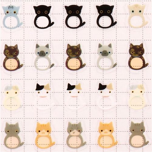 Kutusita Nyanko colorful cats calendar stickers
