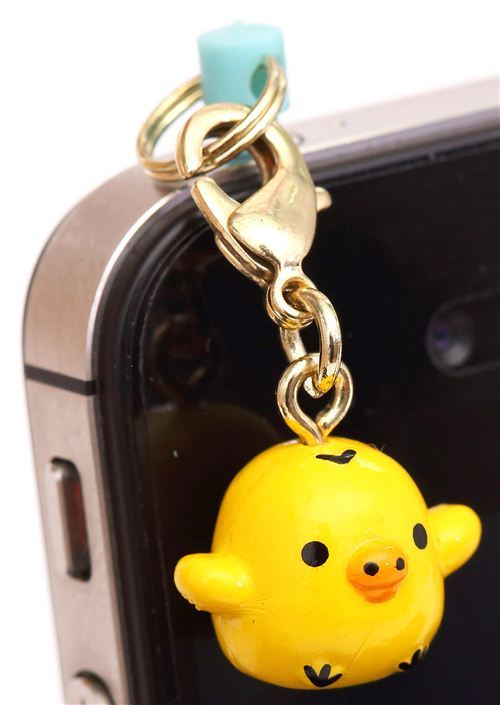 yellow chick Rilakkuma mobile phone plug jack charm