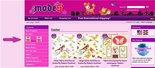 We added our Easter category to our website navigation