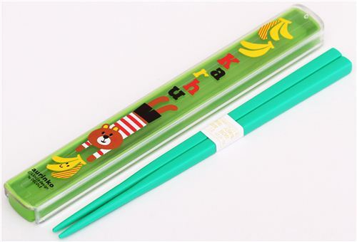 green Decole chopsticks bear banana
