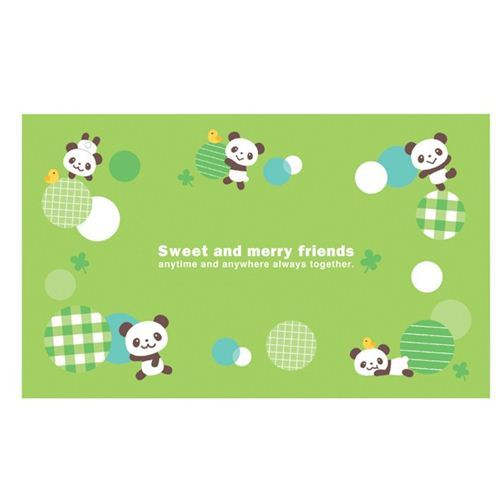 green panda bear bento picnic mat picnic blanket