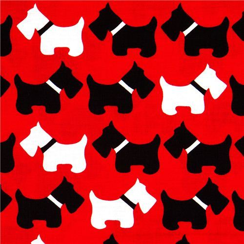 Robert Kaufman premium laminate fabric dogs terrier