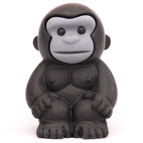 black gorilla monkey eraser by Iwako from Japan