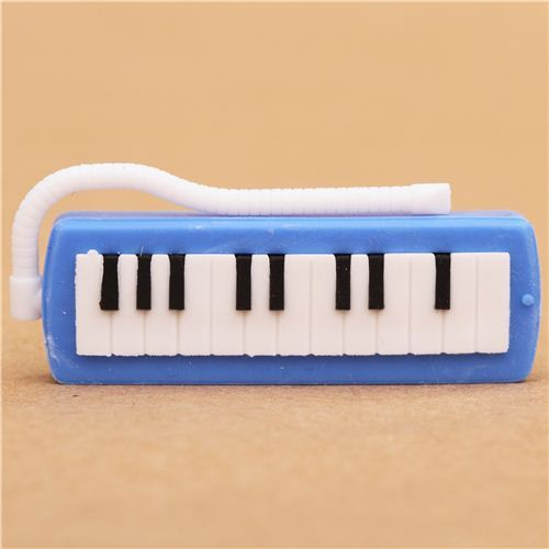 blue keyboard piano eraser by Iwako from Japan