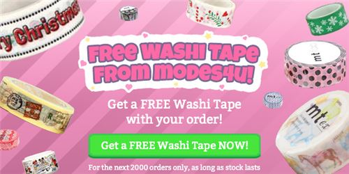 Want a free goodie? Now's your chance to get free washi tape!