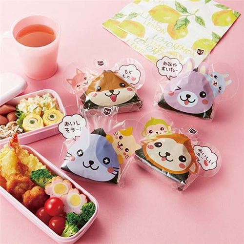 animal bento box Onigiri food wrapping papers