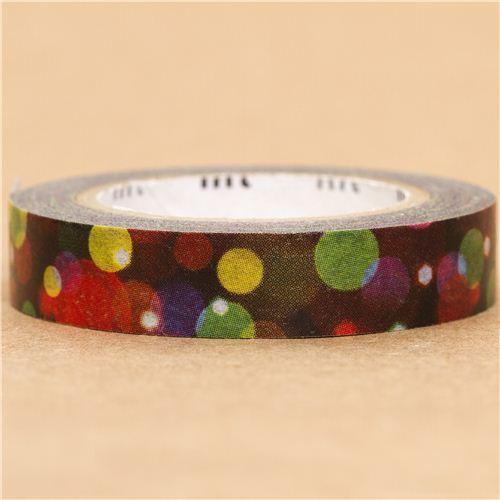slim Christmas patterns mt Washi deco tape light dots