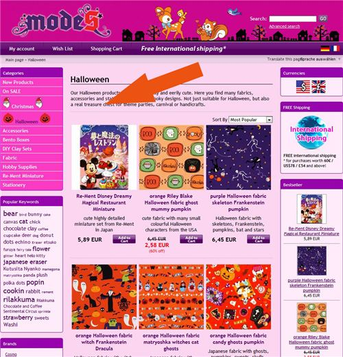 Check out our new Halloween and Christmas pages