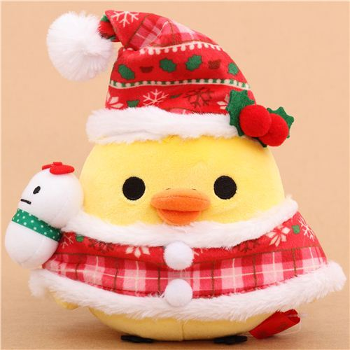 Rilakkuma yellow chick Santa Claus Xmas plush toy San-X Japan