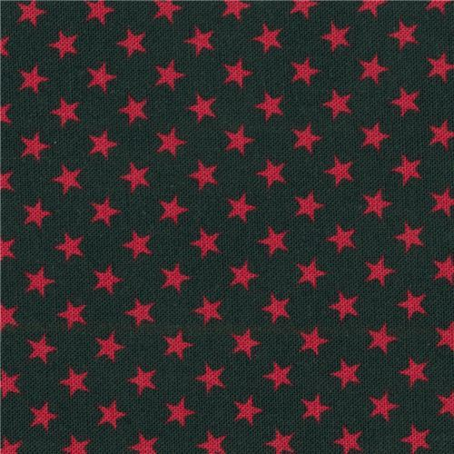 navy blue Robert Kaufman mini red star fabric Sevenberry Classiques