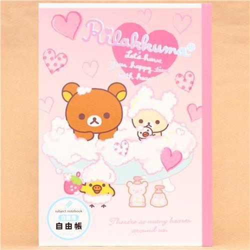 Rilakkuma bear Notepad drawing book bath tub San-X