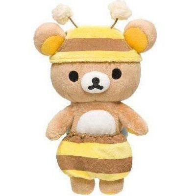 Rilakkuma plush toy brown bear as honey bee