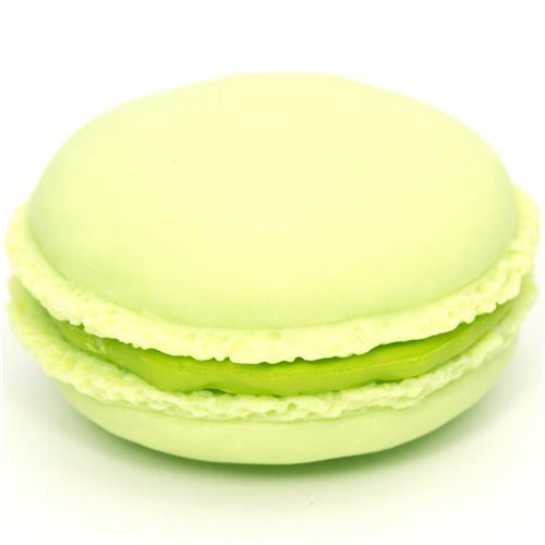 green macaroon eraser French Pastry from Japan