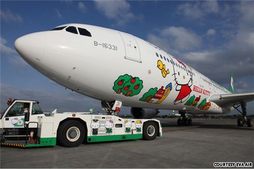 A plane never looked cuter from the outside