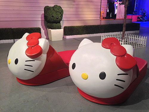 We are not sure which size these Hello Kitty slippers are, but maybe they could also be used as a bed.