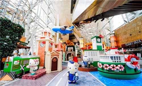 A great overview of the Hello Kitty exhibition area - photo provided by Langham Place