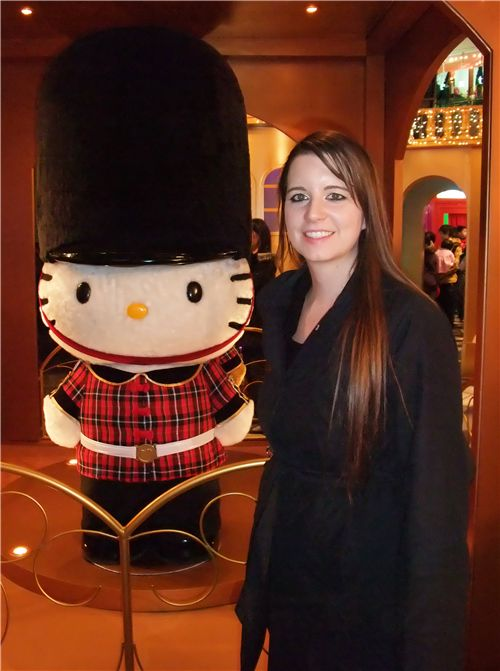 me and Hello Kitty London guard