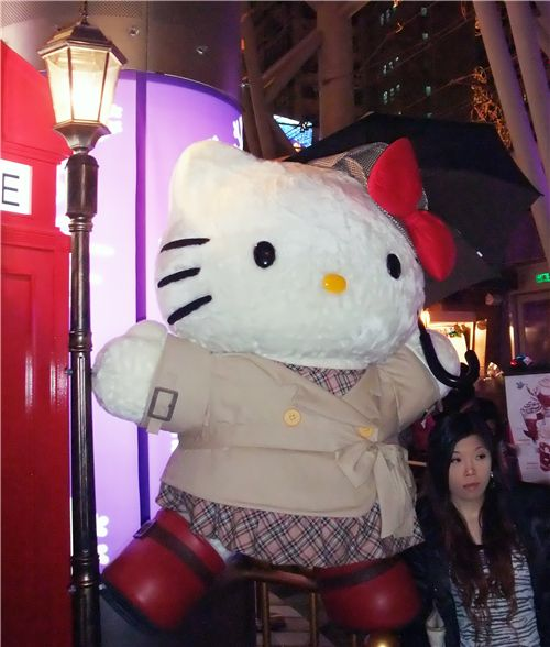 huge Hello Kitty plush figure