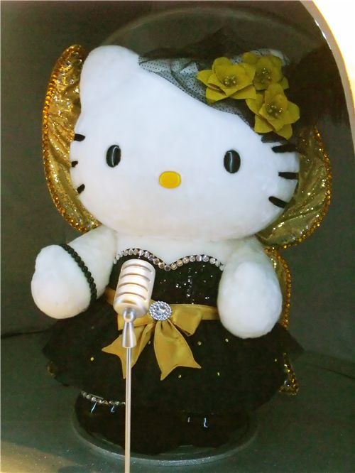 cute Hello Kitty as a singer