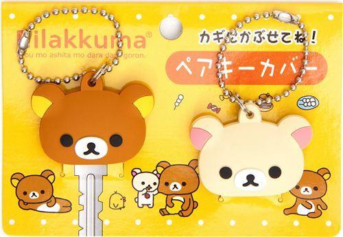 kawaii Rilakkuma bear key cover charm