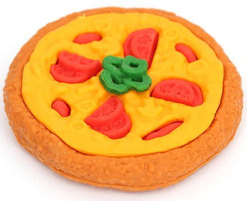 pizza eraser from Japan by Iwako