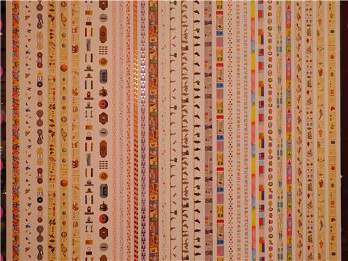 A wall in the store with lots of different mt Masking tapes