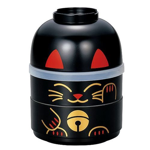 big stackable black cat Bento Box Japan