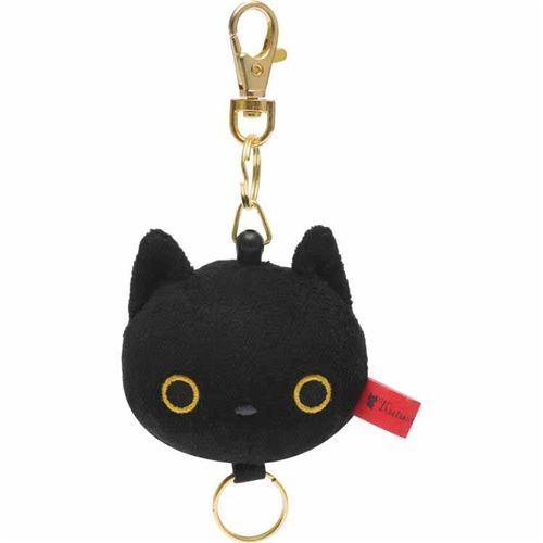 cute soft black cat Kutusita Nyanko plush charm by San-X