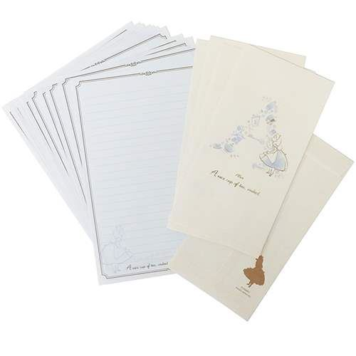 cute Alice in Wonderland Letter Paper Set from Japan