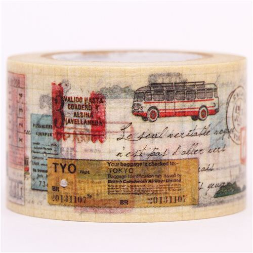 map ticket bus travel mt Washi Masking Tape deco tape