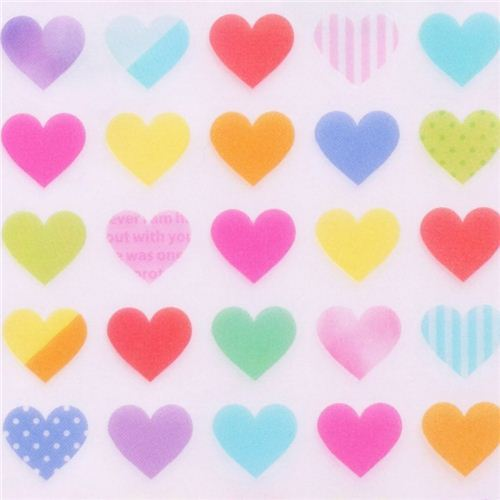 kawaii colorful heart stickers by Mind Wave
