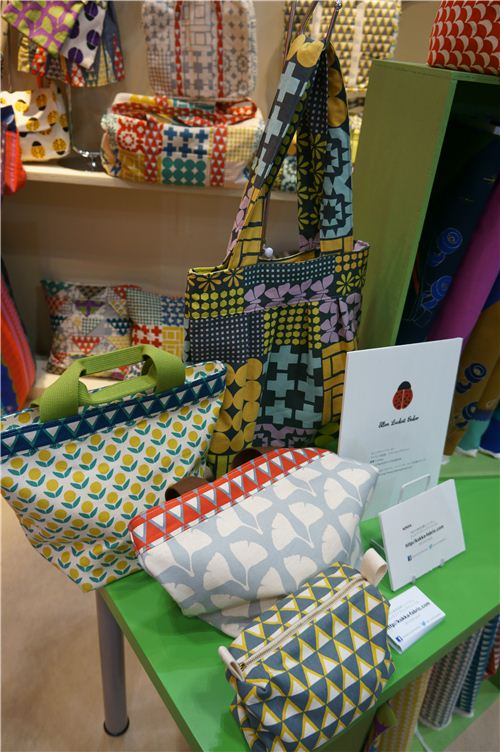 The Kokka fabrics designed by Ellen Lucket Baker are perfect for sewing bags