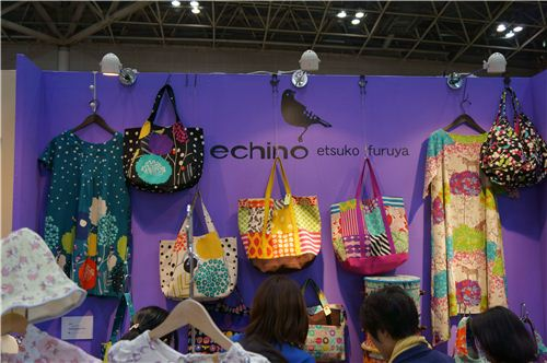 People loved the echino section of the Kokka booth at the trade show