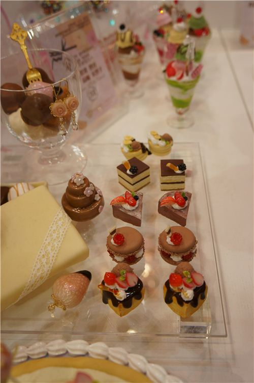 Cute clay candies and pastry
