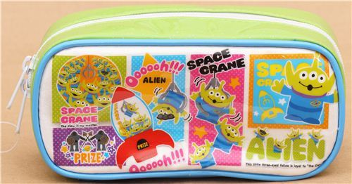 green Toy Story Alien Disney pencil case from Japan