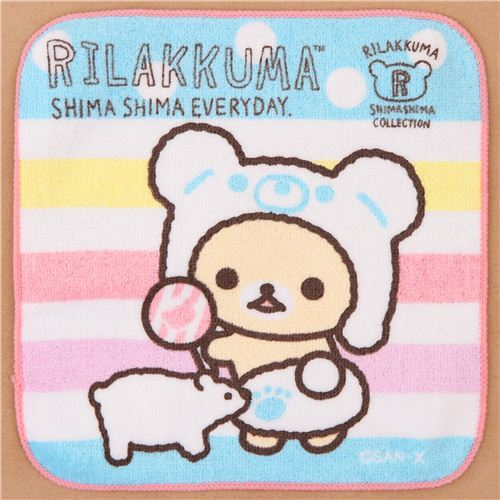 Rilakkuma white bear polar bear Shima Shima Everyday towel from Japan